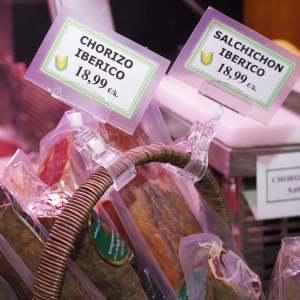 Chorizo y salchichón ibérico en Gijón