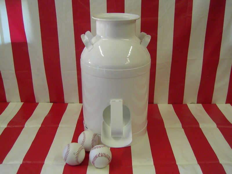 milk can carnival toss game