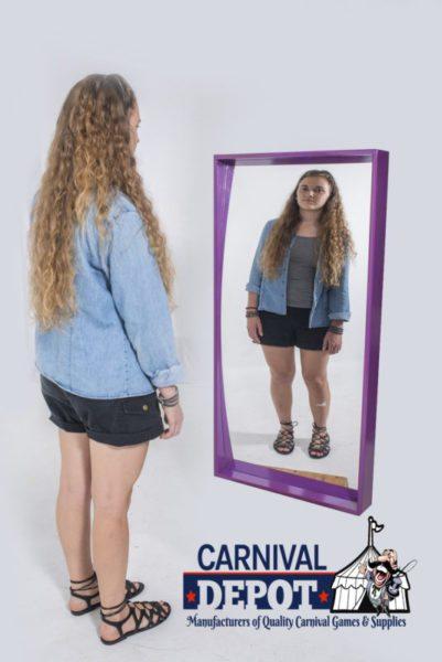 Funhouse Mirror 4' (Purple Frame)