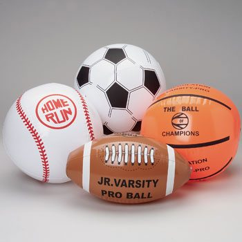 Assorted Sports Ball Inflates