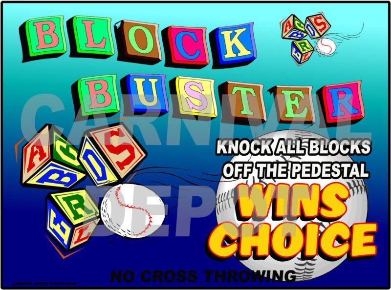 blockbuster carnival sign