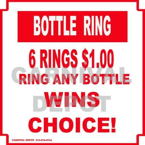 bottle ring carnival sign