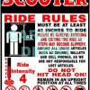 Scooter Carnival Ride Safety Sign
