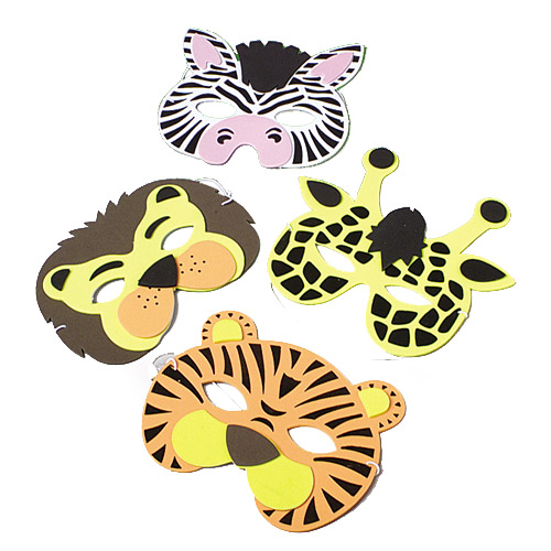 Wild Zoo Animal Foam Masks