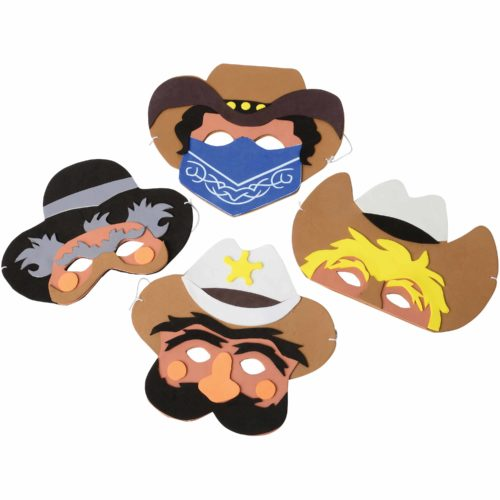 Cowboy Foam Masks Carnival Prize