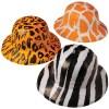 Wild Animal Print Safari Pith Hats Carnival Prize