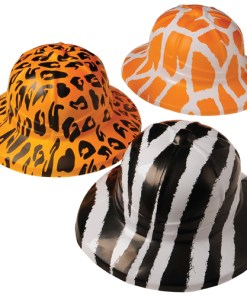 Wild Animal Print Safari Pith Hats Carnival Prize