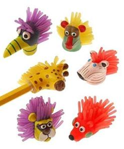 Wild Animal Pencil Toppers Carnival Prize