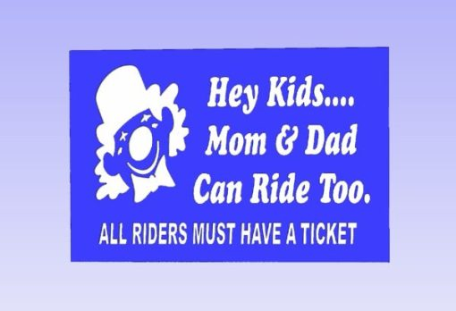 Hey Kids Carnival Safety Sign