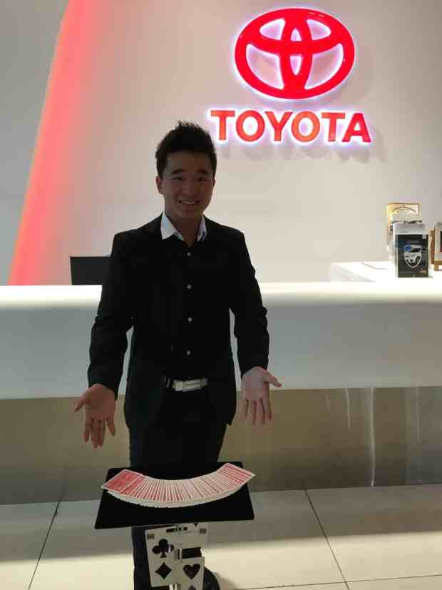 Roving Magician at Toyota Showroom