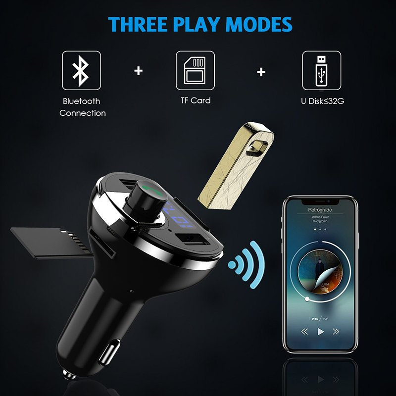 Criacr Bluetooth FM Transmitter for Car2