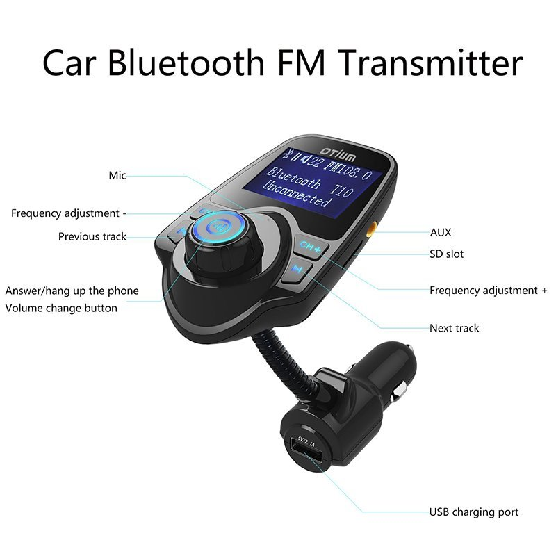 FM Transmitter Otium Bluetooth Wireless Radio1