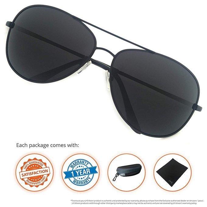 Premium Military Style Classic Aviator Sunglasses By J+S2
