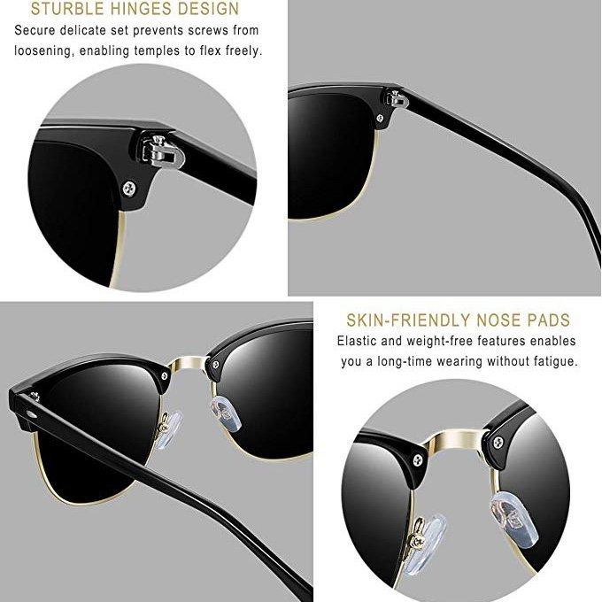 Semi Rimless Polarized Sunglasses By Joopin1