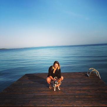 Caro et Cosmos matin ponton Zadar