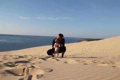 Dune Pilat avec son chien (22)