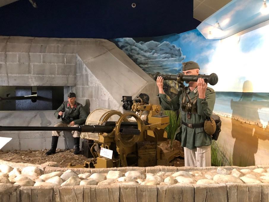 Musée Omaha Beach D-Day chien