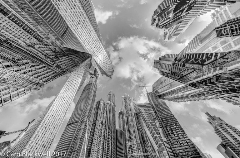 Looking up in Dubai - Caro Blackwell Photography