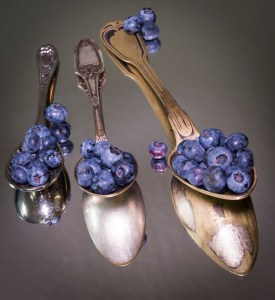Spoons and Blueberries - Caro Blackwell Photography