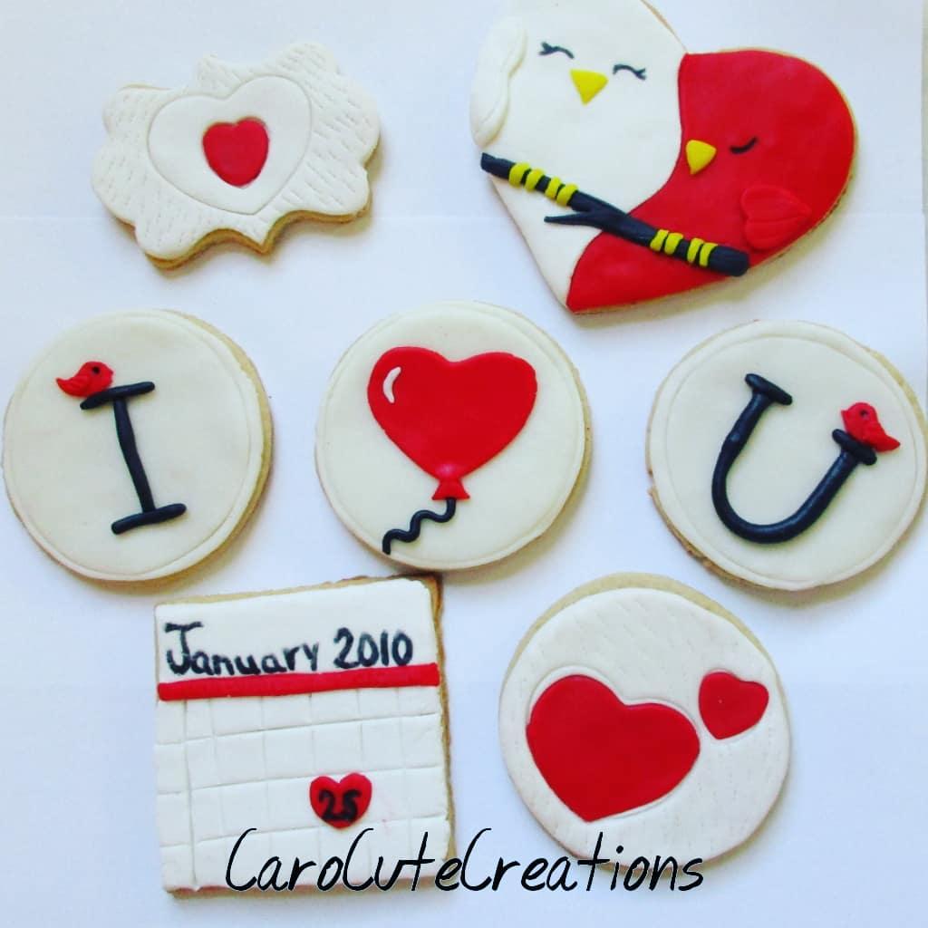 Wedding Anniversary/ valentines Cookie set