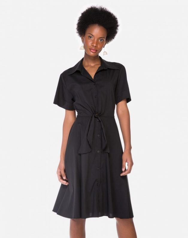 vestido midi preto amaro