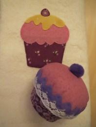 conjunt drap i cupcake