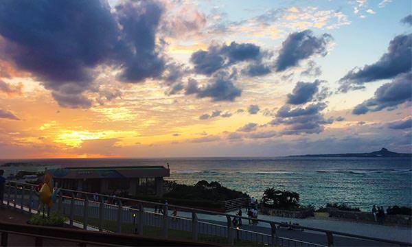 美麗海水族館海邊風景