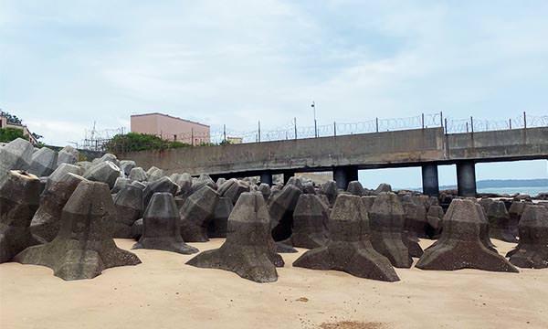塔山電廠輸油棧橋碼頭消波塊