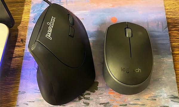 垂直滑鼠 比較一般滑鼠