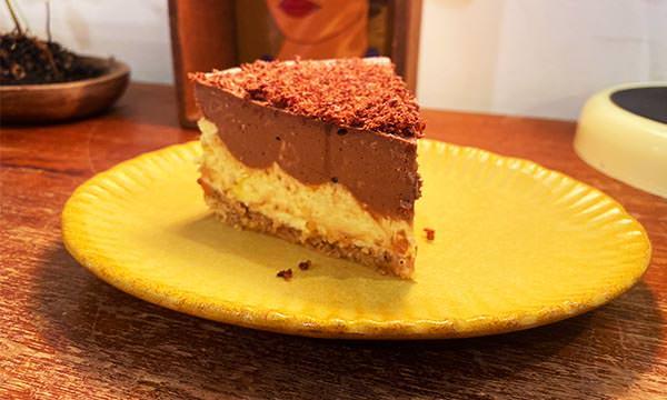 苦巧克力百香果起司蛋糕