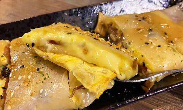 火腿菇菇起司蛋餅