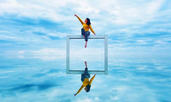 天空之鏡 照片