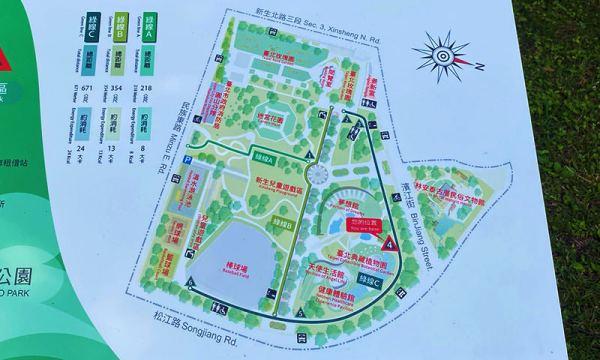 新生公園地圖