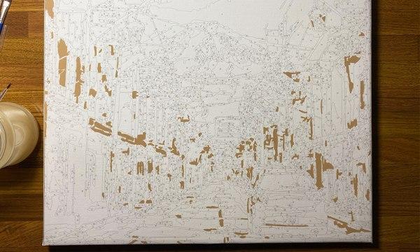 數字油畫繪畫過程