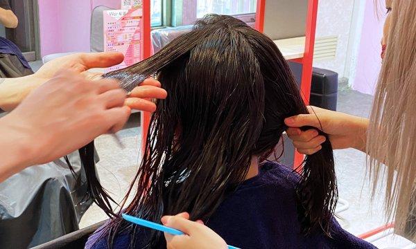 Wor hair桃園店潤髮過程