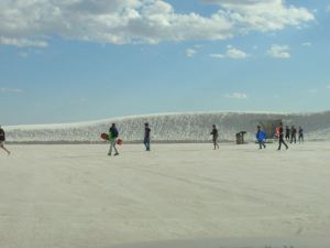 Prefer to sled barefoot? Snowboard in shorts? Try White Sands.