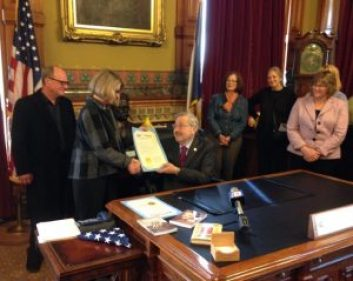 "Governor Branstad lent his support to ""I Grew Up Country"""