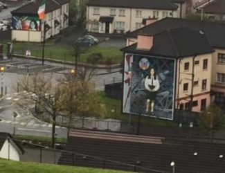 This mural commemorates a a young girl killed during The Troubles. The girl's father continues to visit the mural regularly.