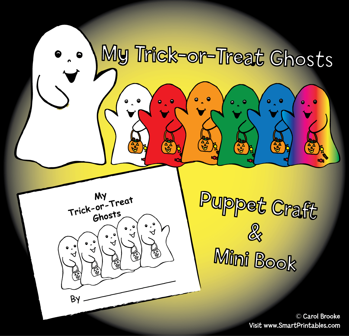 My Trick Or Treat Ghosts Mini Book And Puppets