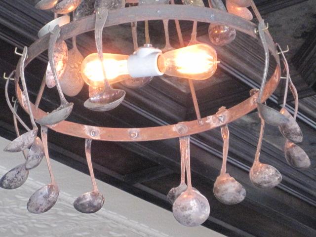 spoon chandelier
