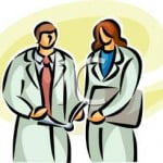 Two_Doctors_Consulting_a_Patients_Chart_Royalty_Free_Clipart_Picture_090504-141400-639009