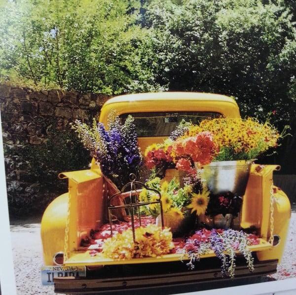 flower truck card