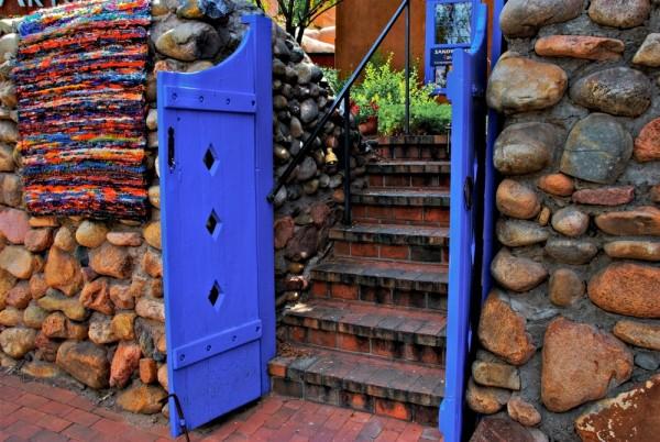 Santa Fe blue door HDR - Version 2