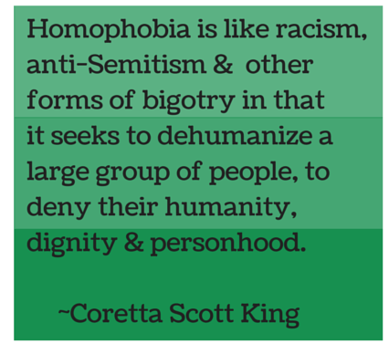 Homophobia is like racism,anti-Semitism