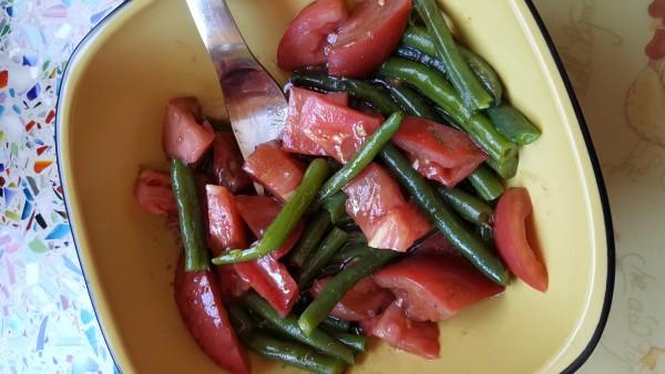 green beans tomato