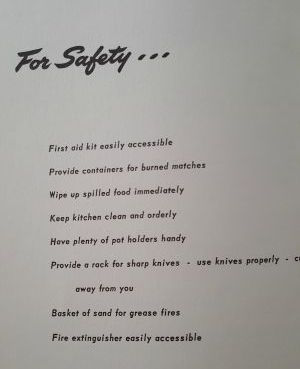 for safety