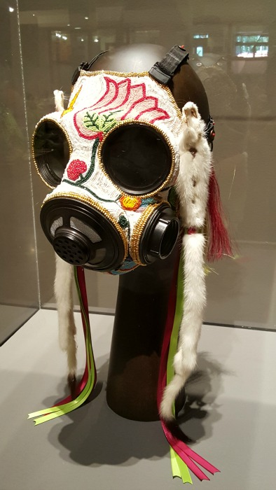 Beaded gas mask