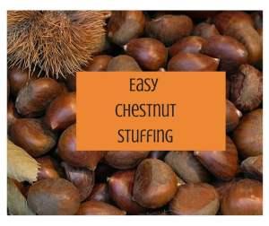 Easy chestnut stuffing