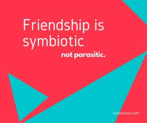 The two-way street of friendship