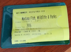 My official fishing license.
